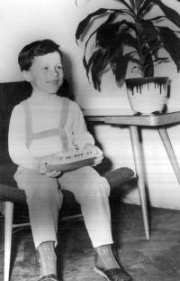 Evžen Adámek v dětských letech