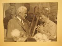 Libuše Hrdinová with the president Ludvík Svoboda