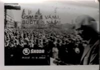 Visit of President Ludvík Svoboda to Pilsen and Škoda plants on September 11, 1968