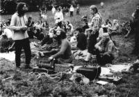 Underground music festival in Třemešek in 1985, organised for the 25th birthday of Antonín Mikšík.