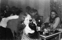 In the Čtverka pub. Uničov 1983