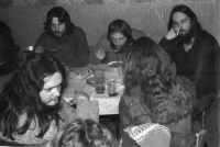In the Čtverka pub. Uničov 1985