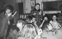 In the Čtverka pub in Uničov. 60's themed musical evening.