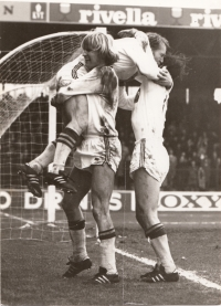 The third match for Go Ahead Deventer, Jelínek scores the first goal in the league, against Ajax Amsterdam, 1970