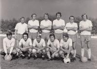 As a player of ČSAD Benešov, (Jelínek is in the middle down), 1975/76