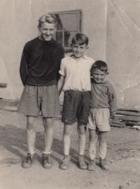 Josef with his younger brothers Jiří and Ludvík, 1950s