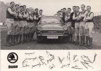 Advertising for the Škoda Dukla Prague, 1960s