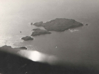 """A """"treasure island"""" adjacent to Nassau as seen from the pilot's cabin"""