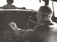 It took a long time before Jan's eyes started to shine and a gentle smile returned to his face. It was the result of partial rehabilitation in the early 1960's and consequently, the possibility to return to the love that never betrayed and never left him – to flying, even if only as the first officer as shown on this photograph.