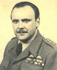 Vilém Bufka on an ID photograph when serving in the RAF during WWII