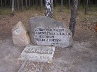 The main memorial at the exit of the Harry Tunnel at the edge of a wood which covered the airmen when they escaped. This is where very emotional and breathtaking memorial ceremonies take place, with the participants of the original events and their family members, as well as military attachés from various countries. It is probably only the celebrations in Normandy which is able to attract so many different diplomatic staff and in greater numbers.