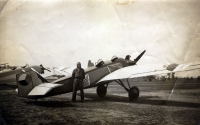 Amateur-built airplane Koželuh [Tanner] which was acquired by the flying school. Here, the airplane was using sign B-12.1