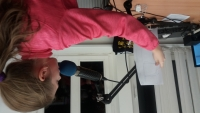 Recording with students of elementary school in Úvoz in the Czech Radio