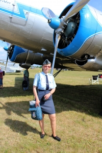 Iveta at one of air shows, by her dad's beloved Dakota
