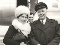 Formal photograph of Jan Irving and his wife Blanka who was a VIP guest at this event. Jan left the cockpit and his glorious pilot career came to an end in 1977.