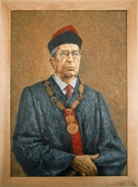 Representation of Augustin Bush as the Dean of FVHE (Faculty of Veterinary Hygiene and Ecology) from the term of office 1997-2000