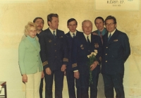 Festive last day in the Czechoslovak Airlines and getting pensioned - the end of one epoch in civilian flying as well as in the life of one airman who just belonged and who was devoted to his job for all his life.