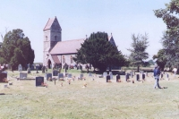 When Ivana took this photograph of church and graveyard in East Wreathan, she already knew it from the stories told by her father and his friends, and from old photographs. Now, she saw it in person for the first time. By this time, she knew enough about aerial warfare so she understood why her dad and other bombers from the 311th squad started to cry and so did she and her mother.