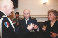 Colonel Irving was awarded the National Order of Merit [Ordre national du Mérite], in the grade of Knight, by the French military attaché, in May 1995 in the Legie Hotel in Prague. This was a great occasion to toast with champagne. Jan Horal, owner of Duo hotel paid for the wine and serving staff. He never forgot  the effort and personal risk of Jan Irving who regularly removed heaps of secret police's surveillance equipment from his room in the Alcron hotel. (Jan Horal and Jan Irving feature in the documentary by V. Venclík, filmed in 1997 as Report on two Destinies. Those two demonstrate the differences of freedom in emigration and persecution in totalitarian regime. The document should be available from the archive of the Czech Television.)