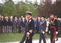 An official visit of Prince and Princess of Wales to Czechoslovakia in 1991. There was a large memorial assembly with participation of the invited airmen and their companions at the army section of the Olšany graveyards, in a plot dedicated to the fallen RAF airmen.