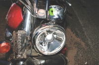 """""""Another heart ache of mine. The back of the bike got destroyed. It could be repaired but the stickers from all bike reunions were lost, and these can't be replaced; so were those on the front light and on the speedometer."""""""