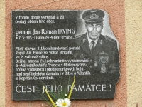 This beautiful memorial plaque on the family house in Úherce is Iveta's fulfilled promise. The plaque was installed following a request of Úherce inhabitants. The unveiling took place on the 19th May, 2001. This was more than a memorable ceremony for all the participants and there was not only a magnificent military memorial service, there was further entertainment and snacks. Everyone was happy despite getting soaked to the bone in rain.