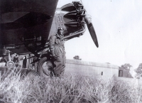 """Irving's first workplace in Kbely at the First Air Batallion """"T. G. Masaryk"""" in front of the Aero Apb-32 with Jupiter engine"""