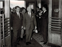 Visit of President Ludvík Svoboda to Pilsen and Škoda Works on September 11, 1968