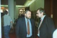 In the Parliament, with Pavel Popovič, beginning of the 1990's