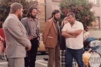 Volební mítink Občanského fóra v Přešticích, 1990