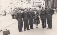 At the military service in Karlovy Vary in 1951-53