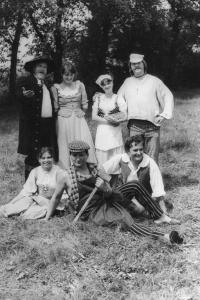 Celebrating the centennary of Fire Brigade in Lužany, 1980's (Oldřich Váca on the left)