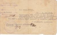 Antonín Špika's draft notice
