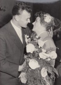 The wedding in 1957