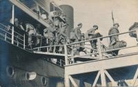 In the legion - boarding the ship