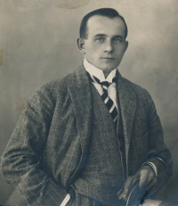 Antonín Špika after he returned from the WWI legions.