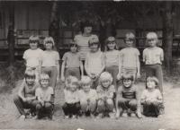 As an assistant at a Pionýr summer camp, 1980.