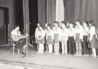 Performing with Pionýr members, 1984