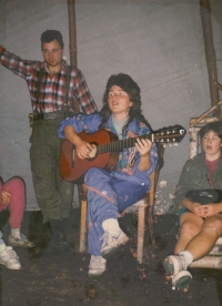 Boy Scouts leader, summer camp, 1996