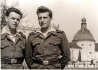 Josef Davídek during the military service in 1956