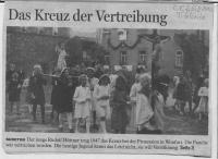 Rudolf Hüttner nach der Vertreibung in Wonfurt 1947