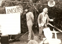 A photo from the Pepík's Garden performance in Třebíč, with which Vladimír Líbal performed in the 1970s and 1980s.