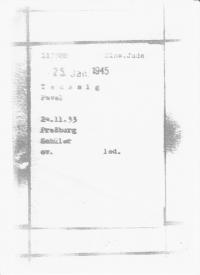 Kartotéční lístek z tábora Mauthausen