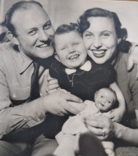 Růžena and Karel with daughter