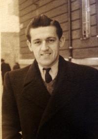 Karel Hrubý as an abiturient of a teaching institute