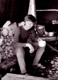 Jiří Zajíc na táboře, 1975