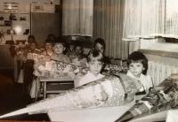 První školní den pamětnice v roce 1987
