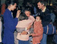 Rozloučení s panem velvyslancem H. Huberem po odchodu z velvyslanectví Spolkové republiky Německo v Praze dne 30. září 1989