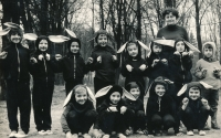 Jan Slezák (bottom left), circa 1968
