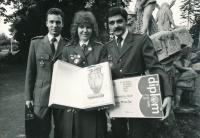 Jan Slezák (on the right), September 1989